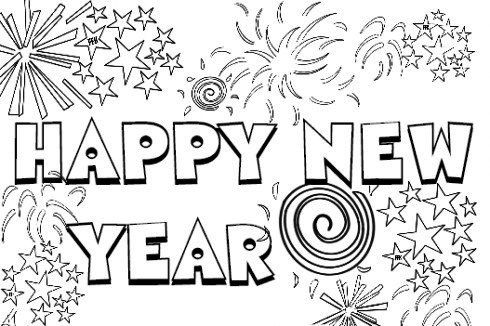 New Years Printable Coloring Pages 2021 In 2020 New Year Coloring Pages Coloring Pages Happy New Year