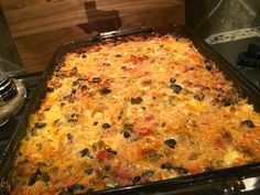***Spaghetti squash taco casserole - good with ground turkey, DELISH with ground beef! - try served over Fritos - yummy