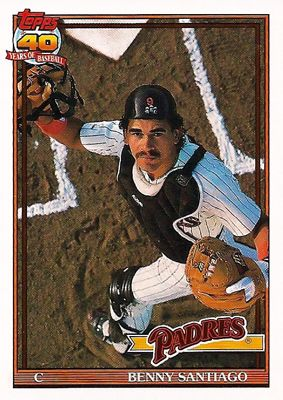 Benito Santiago, the only reason I decided to catch for my little leauge career