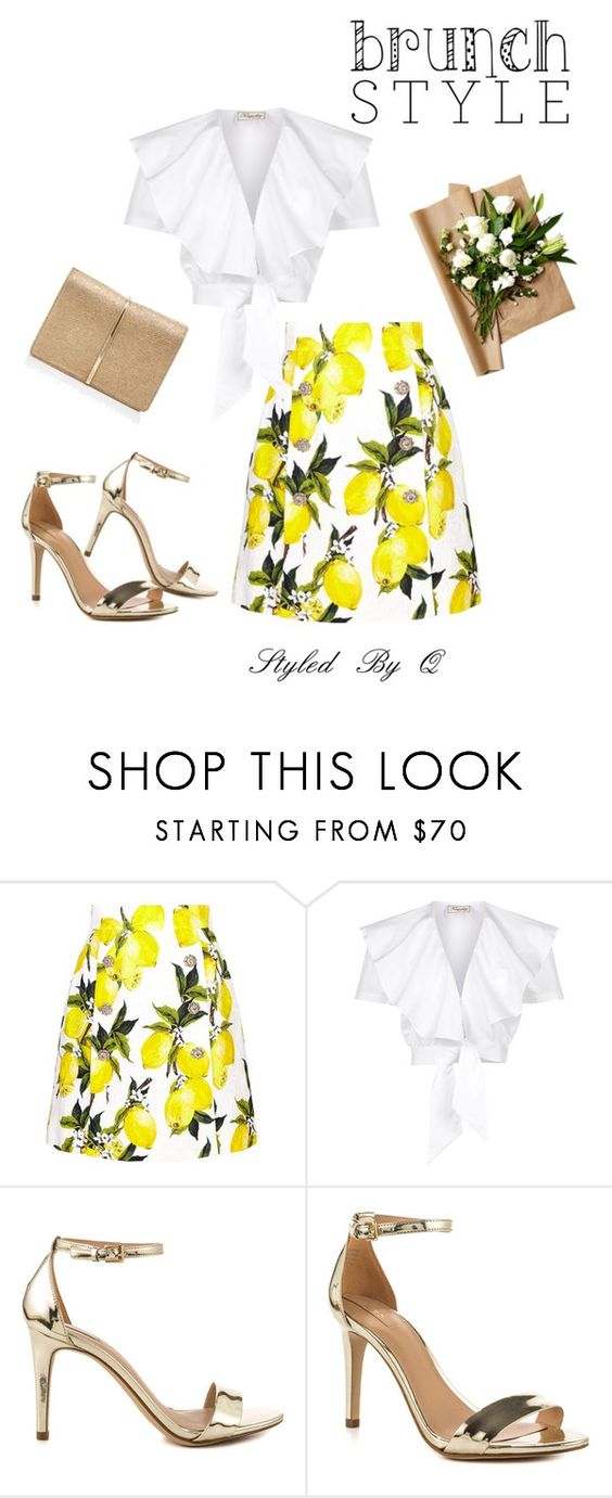 """""""Brunch Style!"""" by quintan ❤ liked on Polyvore featuring Dolce&Gabbana, Temperley London, ALDO and Nina Ricci"""