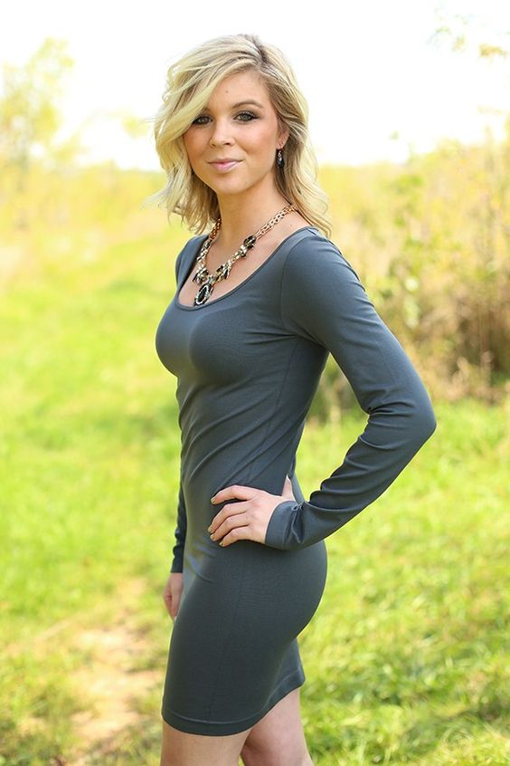 Seamless Perfection Long Sleeve Tunic Dress in Grey