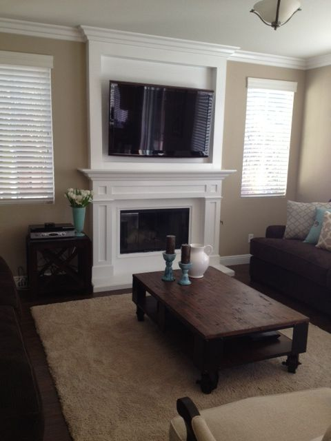 Built In Wall Mount Fireplaces With Mantle Built A Wider Hearth Then We Built A New