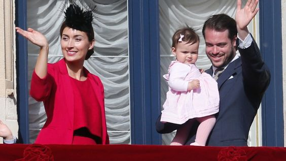 Claire and Felix of Luxenburg with their 1 year young daughter Amalia