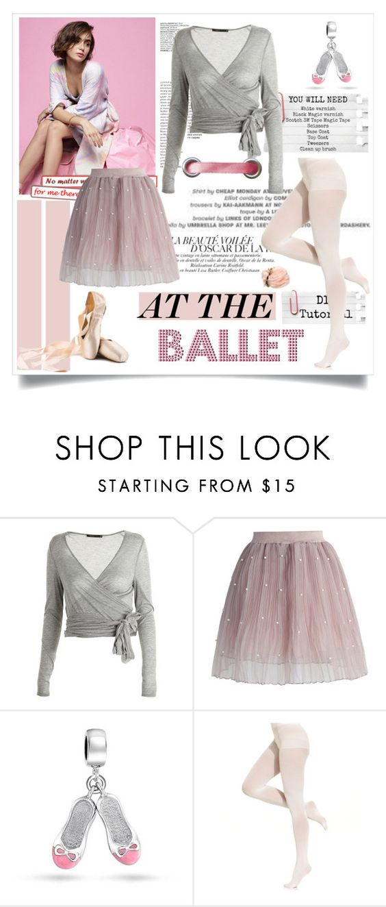 """""""Lily Collins - At the Ballet ♥"""" by tvdsarahmichele ❤ liked on Polyvore featuring Twenty, Chicwish, Bling Jewelry and DKNY"""