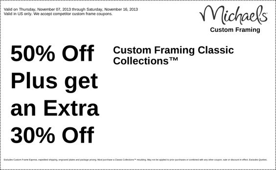 michaels coupons custom framing 60 off plus get an extra 15 off entire custom framing order httpswwwfac pinteres - Michaels Framing Coupon
