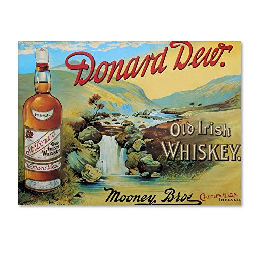 Vintage  advertising  Poster reproduction Donard Dew Whiskey
