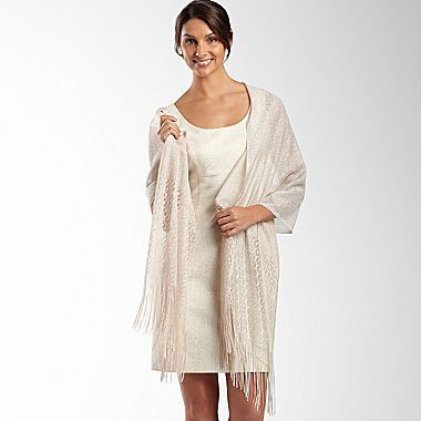 Metallic Crochet Wrap - jcpenney