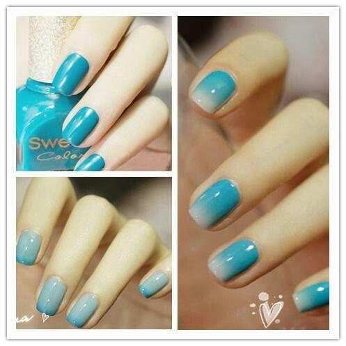 56 ideas para que pintes tus uñas color celeste  pintar