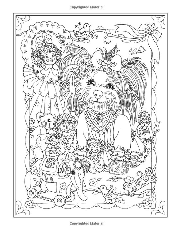 Amazon.com: Creative Haven Dazzling Dogs Coloring Book, Marjorie Sarnat: