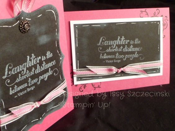 Stampin' Up! Feel Goods stamp set, chalkboard style cards