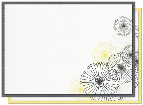 Printvitation™ Kit - 'Dandelions': set of ten 5x7 blank invitations, including a separate cardstock backing layer