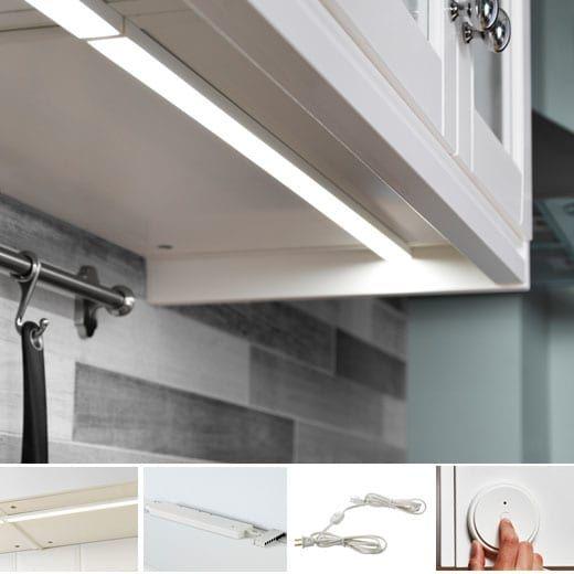 Ikea Cuisine Lumiere Integree Omlopp Pour Comptoir Avec Images