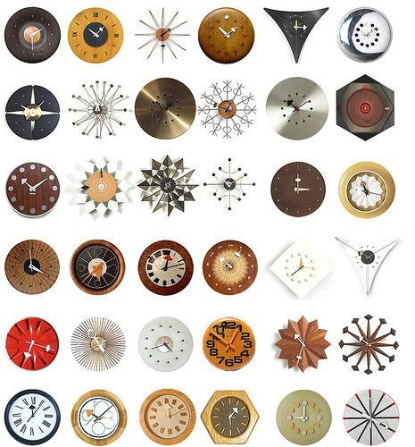 George Nelson starburst clocks
