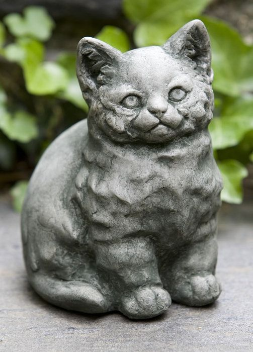 The Kitty Garden Statue. I'm obsessed with weird garden statues. Lol I want this creepy kitty for my garden.: