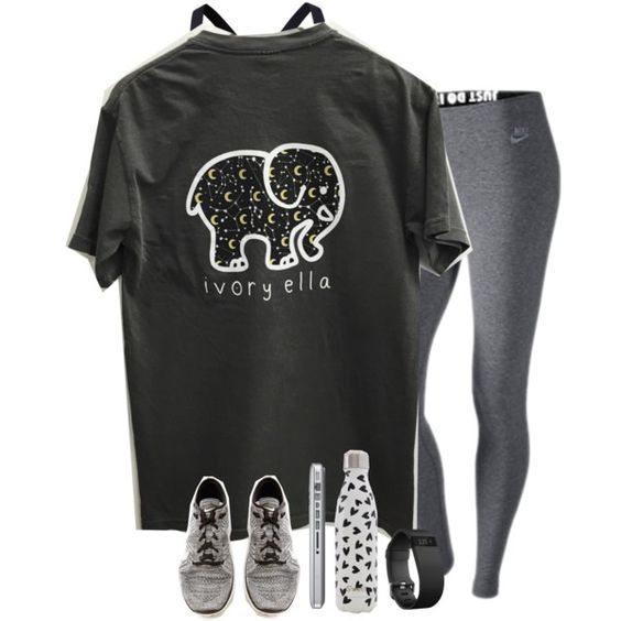 dance rehearsal tonight by sdyerrtx on Polyvore featuring NIKE, Under Armour, Fitbit and Swell