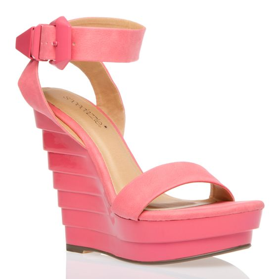 Pink Heels! Cool layering effect on the back