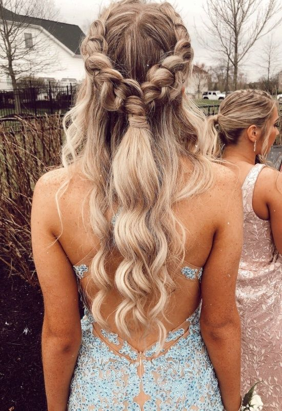 Vsco Teenthings Backless Dress Hairstyles Semi Formal Hairstyles Formal Hairstyles For Long Hair