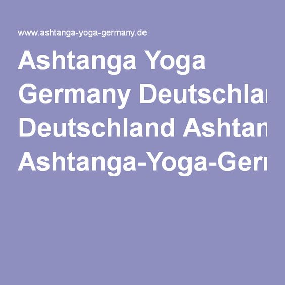 Ashtanga Yoga Germany Deutschland Ashtanga-Yoga-Germany.com