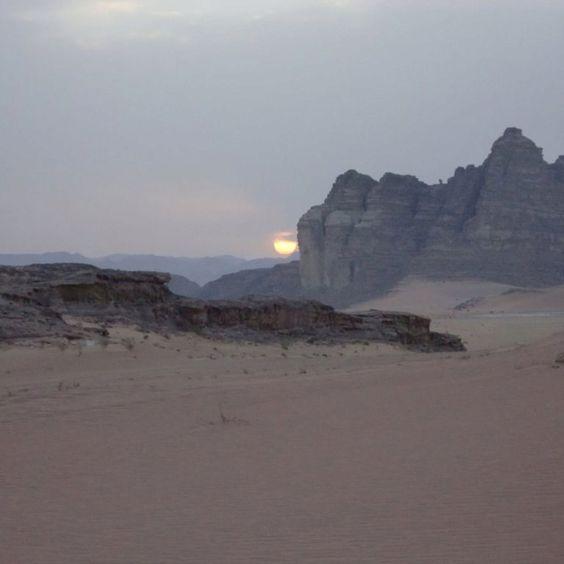 sunset, wadi rum