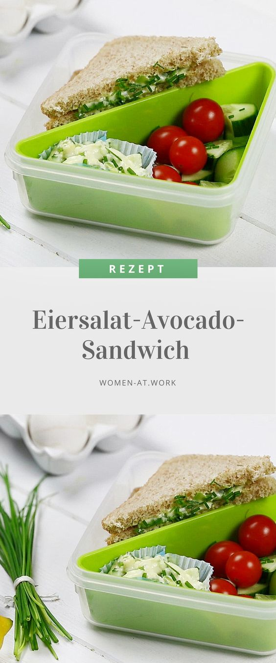 Eiersalat-Avocado-Sandwich mit Emsa CLIP & GO am Welt-Sandwich-Tag