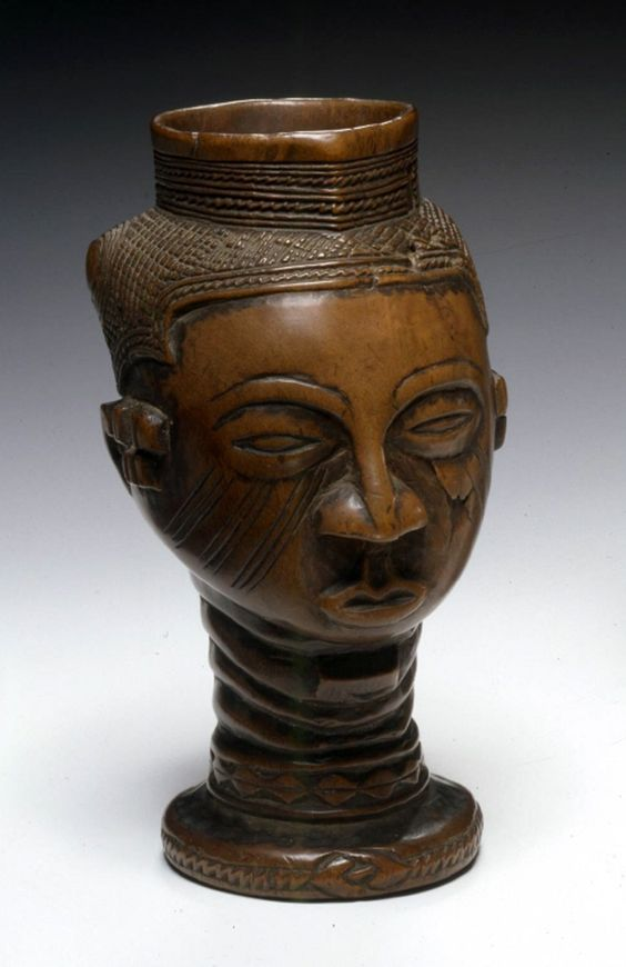 Africa | Palm wine cup from the Kuba people of Congo | Wood | Late 19th to early 20th century