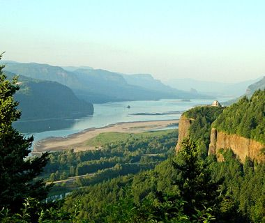Columbia River Scenic Highway, Oregon. Designed and constructed back in the early days of the automobile, the route winds past a series of lovely waterfalls while taking in the best sights of the Columbia Gorge, east of Portland.