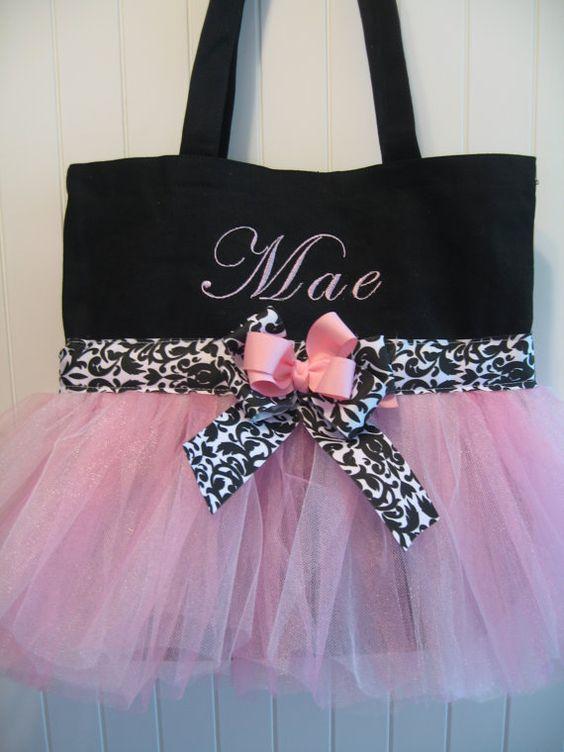 What a cute little dance bag: