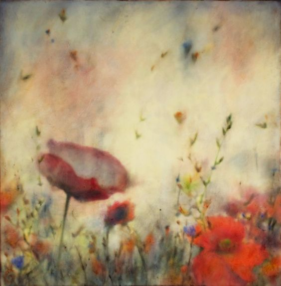 JOYCE GEHL - encaustic over photograph with oil paint patinas as final layer