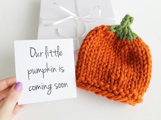 Oktober Großeltern Schwangerschaft Ankündigung, Baby-Hut-Kürbis, Halloween Neugeborenen Hut