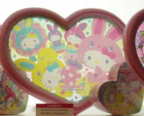 Tenyo Stained Art Jigsaw Puzzle Hello Kitty Colorful Bunny with The Frame   eBay