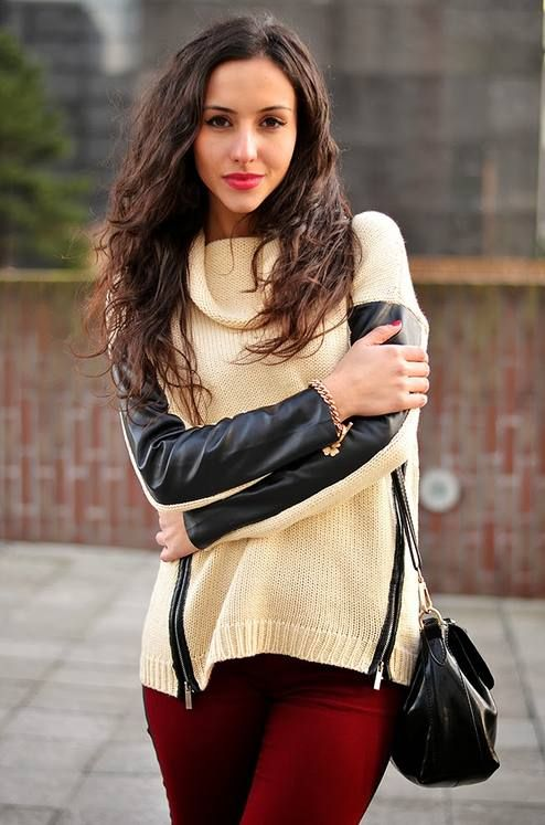 #Outfit || #Leather #Sweater  #