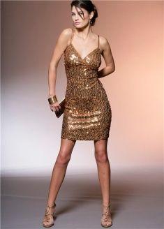 gold sequins; paillettes dorate by Bonprix