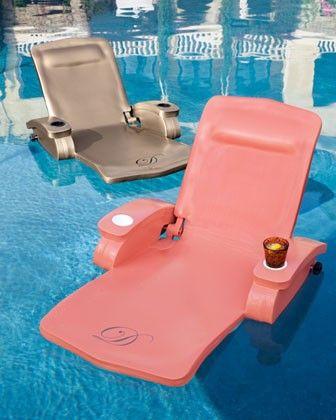 monogrammed water recliner.