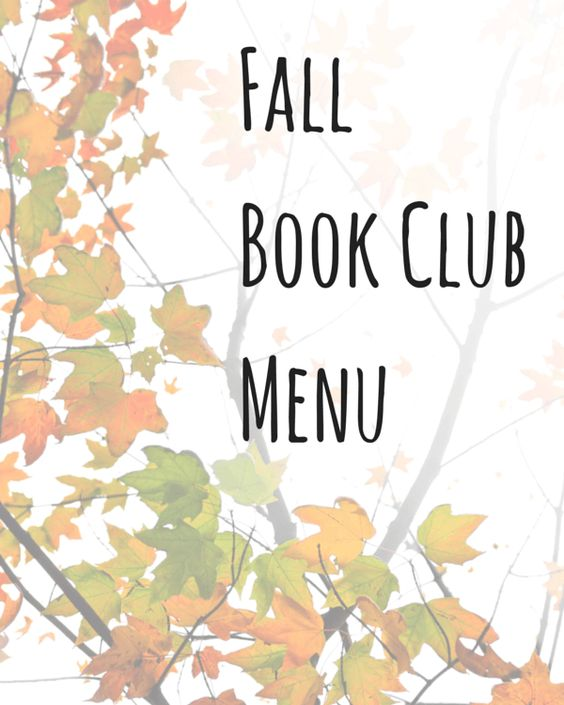 Fall Book Club Menu ~ http://www.garnishwithlemon.com