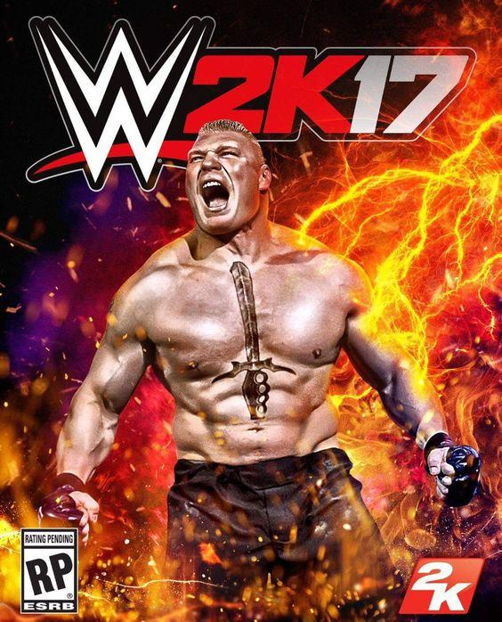 Brock Lesnar Gets The Cover Of WWE 2K17  #BrockLesnar #WWE2K17