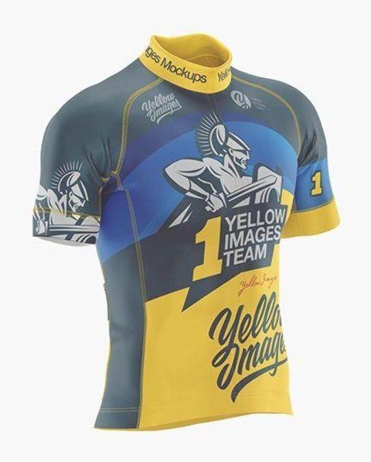 Men S Cycling Jersey Mockup With Images Clothing Mockup Shirt