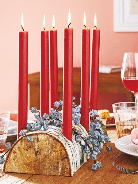Ein Kerzenleuchter auf dem Holzweg: Was Sie für die rustikale Tischdeko brauchen? HIER KLICKEN!
