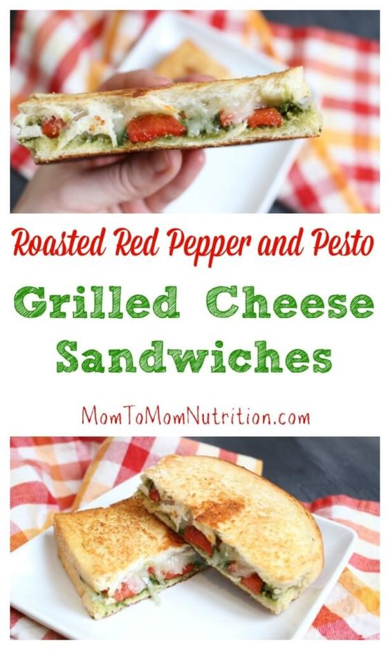 Roasted red peppers, Grilled cheese sandwiches and Red peppers on ...