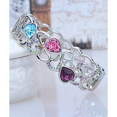 Tease Hearts Korean Crystal Bracelet Uc00097 - GBP £ 4.53