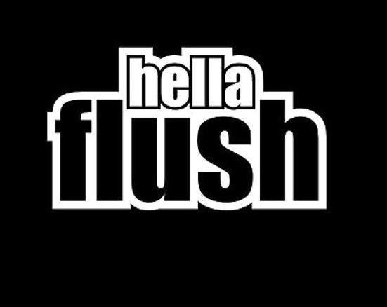 Hella flush funny jdm custom decal sticker