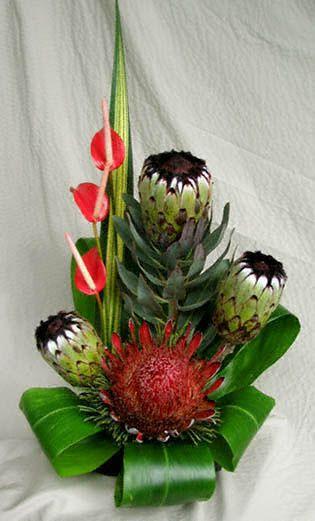 King protea floral arrangement floral arrangements for King protea flower arrangements