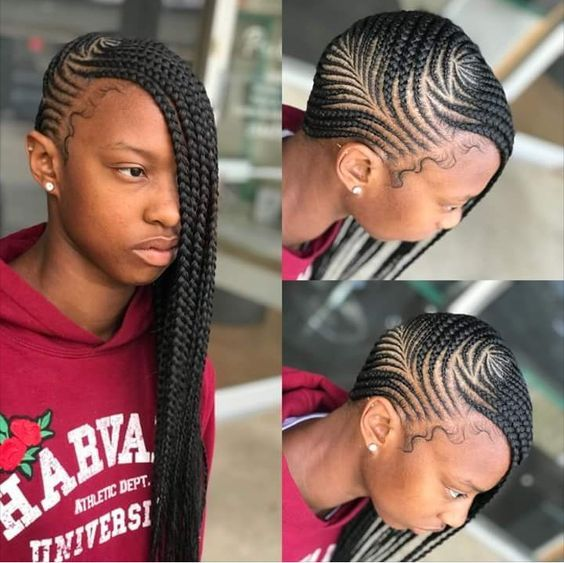 Cornrow Braided Hairstyles For Natural Hair 50 Catchy Cornrow Braids Hairstyles Ide Braided Hairstyles Lemonade Braids Hairstyles African Hair Braiding Styles