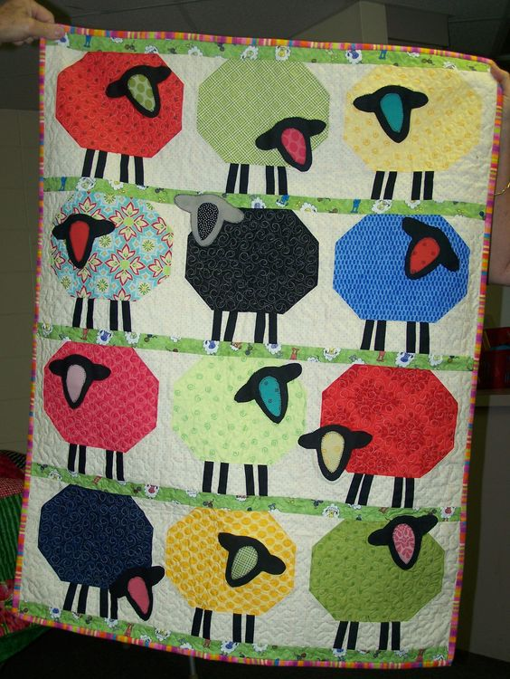 Quilt, Counting sheep and Sheep on Pinterest