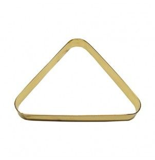 brass designer pool triangle for standard pool balls