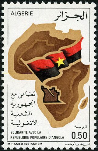 Map of Africa and flag of Angola  Flags on Stamps and Etc