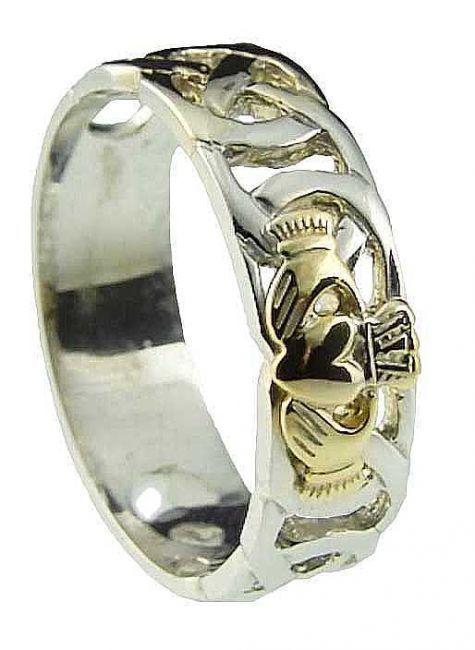 Irish Wedding Rings Claddagh Meaning In 2020 Irish Wedding Rings Black Wedding Rings Black Diamond Wedding Rings