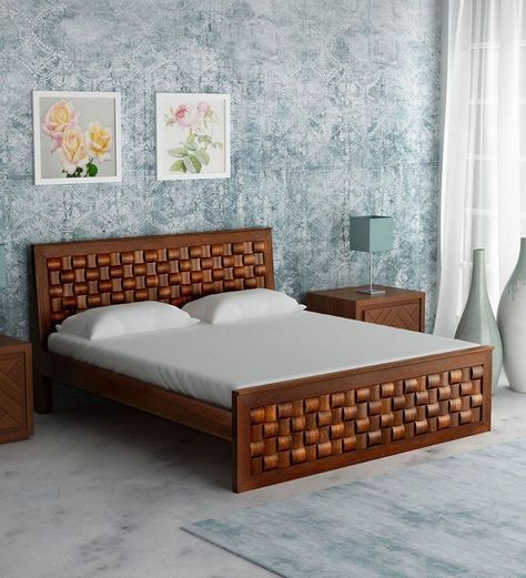10 Latest Wooden Bed Designs With Pictures In 2020 Wooden Bed Design Bed Design Wooden Sofa Designs