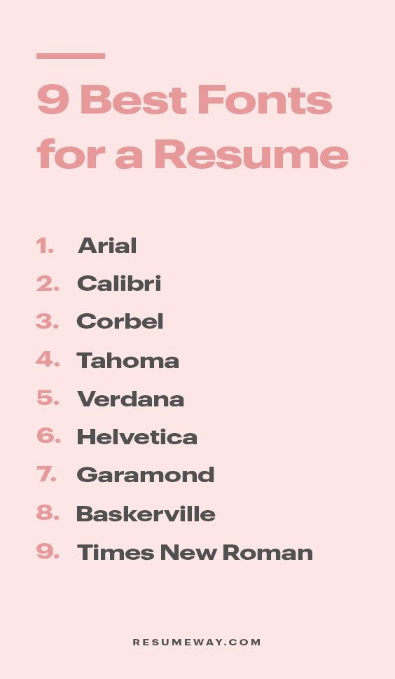 Top 9 Resume Fonts To Level Up Your Resume In 2020 Resumeway In 2020 Resume Fonts Resume Resume Advice