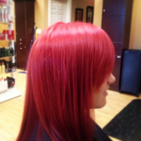 Crazy awesome red! Hair done by Katie Smi