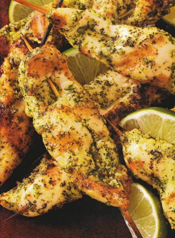 Cilantro Pesto Chicken Tenders (I have made this; it rocks!)